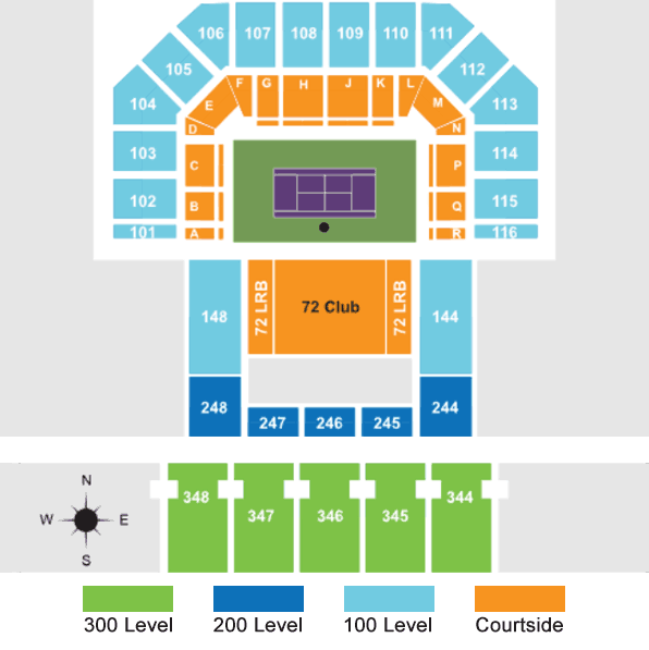 Miami Open Seating Map