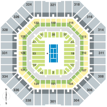 US Open Seating Map
