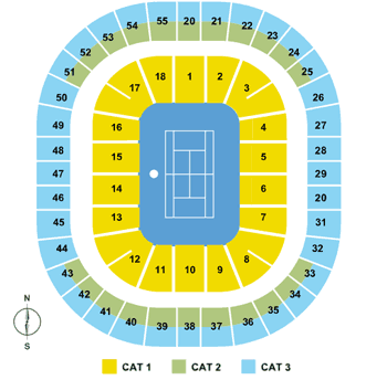 Australian Open Seating Map