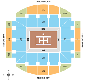 Suzanne Lenglen Court Seating Map