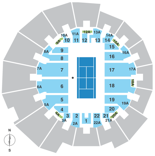 US Open Tennis US Open Tickets Championship Tennis Tours - Us open tennis parking map