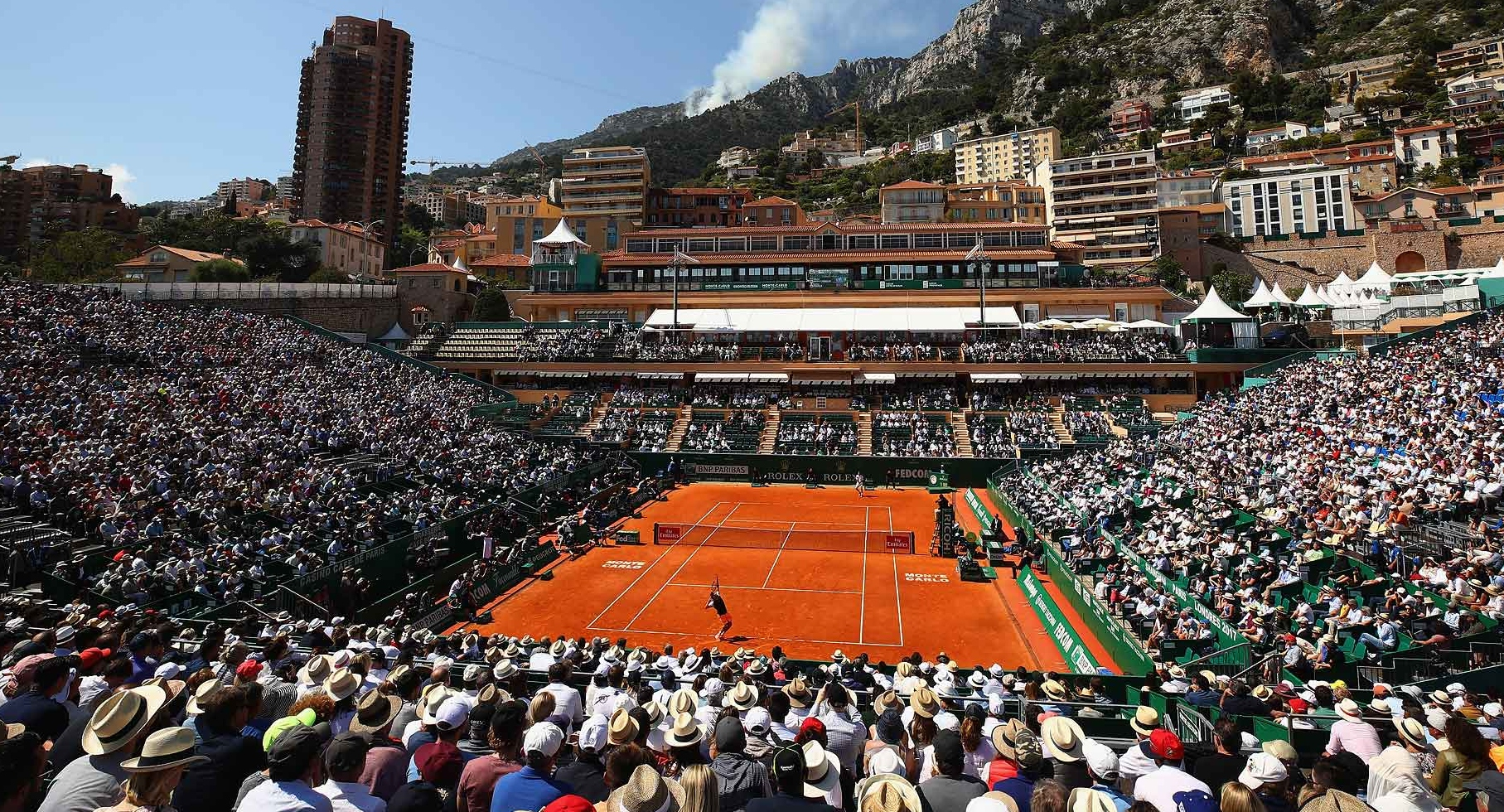 A ROYAL SETTING FOR A TOURNAMENT.   Nadal crushes Nishikori for his 11th Monte Carlo title.