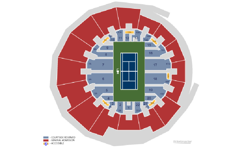 Us Open Seating Guide 2019 Us Open Championship Tennis Tours - Us-open-tennis-location-map